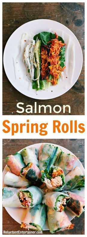 Salmon Spring Rolls