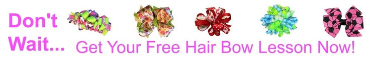 Learn how to make hair bows with our hair bow instructions. Easy, simple and fun.