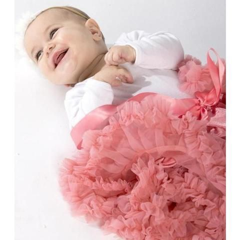 Baby Petticoat Tutu Skirt - Pink. Christmas outfit. Newborn Photography. Birthday outfit. Princess. Special Occassion