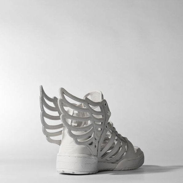 Adidas M29012 Jeremy Scott Wings JS GS 2.0 Cutout White Women Kids Sz US 6 UK 5  #adidas #AthleticSneakers