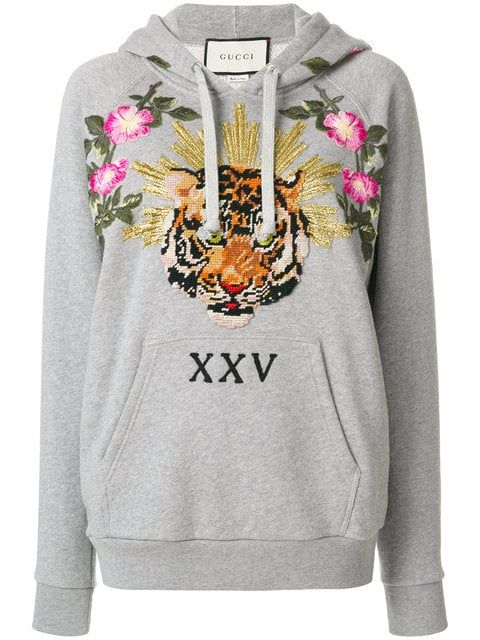 f309604d0a4 Gucci Embroidered Hoodie - Farfetch
