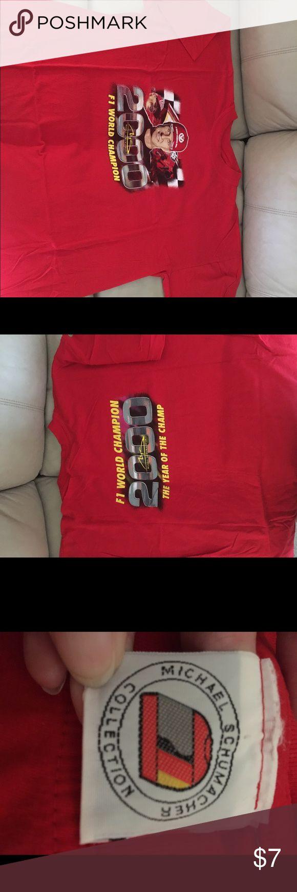 Michael Schumacker F1 Racing XXL TShirt Michael Schumacker F1 Racing XXL TShirt Vintage Shirts Tees - Short Sleeve