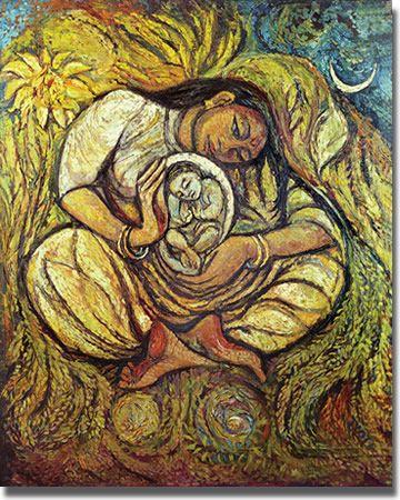 The Dalit Madonna by Jyoti Sahi (b.1944 )