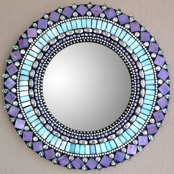 Love the color and design of this mirror frame