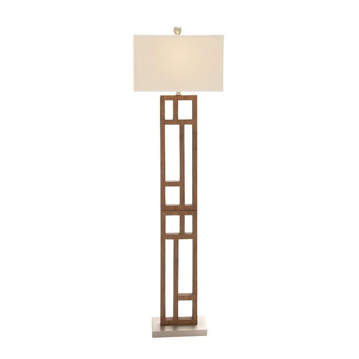 Wonderful Wood Stainless Steel Floor Lamp 62 inch high. We have them in smaller size too.