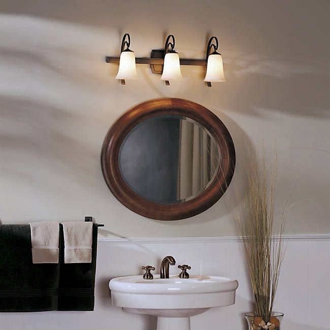 Delightful Hubbardton Forge Bathroom Lighting Part - 3: Scroll 3-Light With Glass By Hubbardton Forge. Bathroom ...