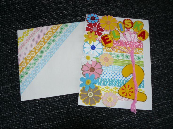 tak zkouším poprvé nahrát pin z mojí tvorby, je to přání k narozeninám dvouleté princezny, dělané na zakázku, mělo být barevné a veselé....... prý udělalo velkou radost :)