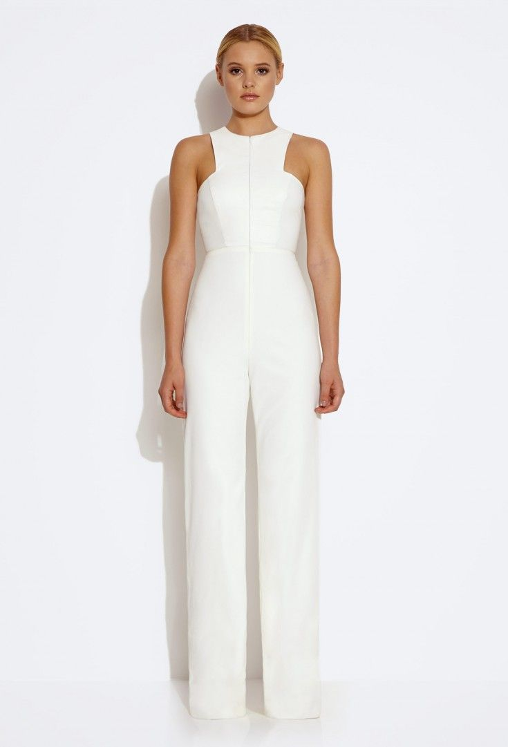 Crane Front Zip Jumpsuit - Cream £135