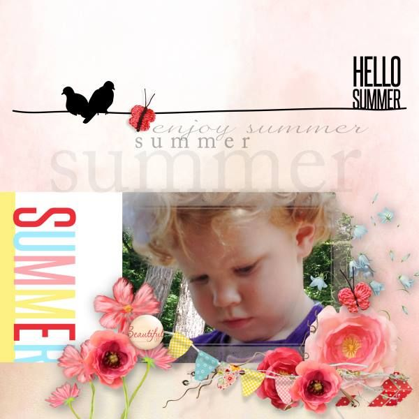 Summer - I've used the gorgeous bundle Summer Morning by Natali Desigs at SBG.