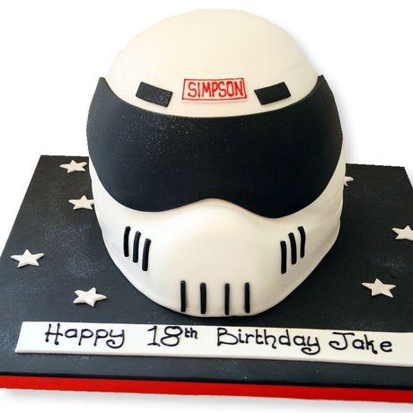 Crash Helmet Cake