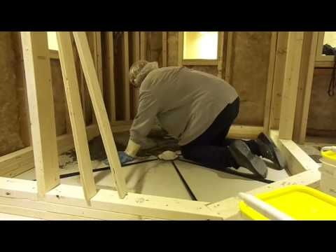 quick pitch system with dix systems oneliner shower pan liner youtube