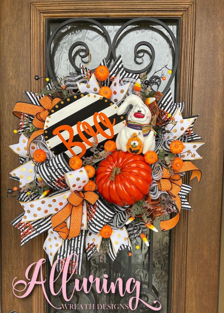 Ghost Wreath Trick Or Treat Sweets Swag Ghost Swag Faux Halloween Treats Swag Halloween Candy Wreath Fall Swag Halloween Ghost Swag
