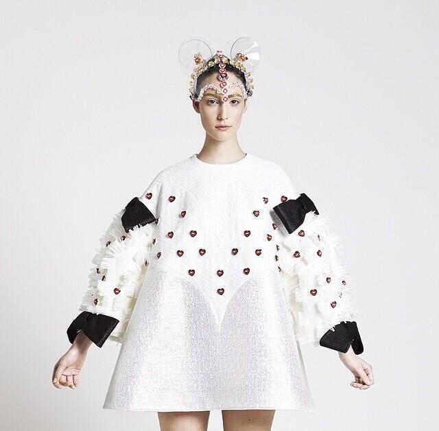 Cutest dress by Minju Kim, it's a Minnie Mouse inspired one :)
