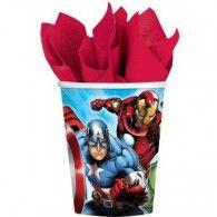 Avengers Cups 266ml Paper Pkt 8 $7.95 A581354