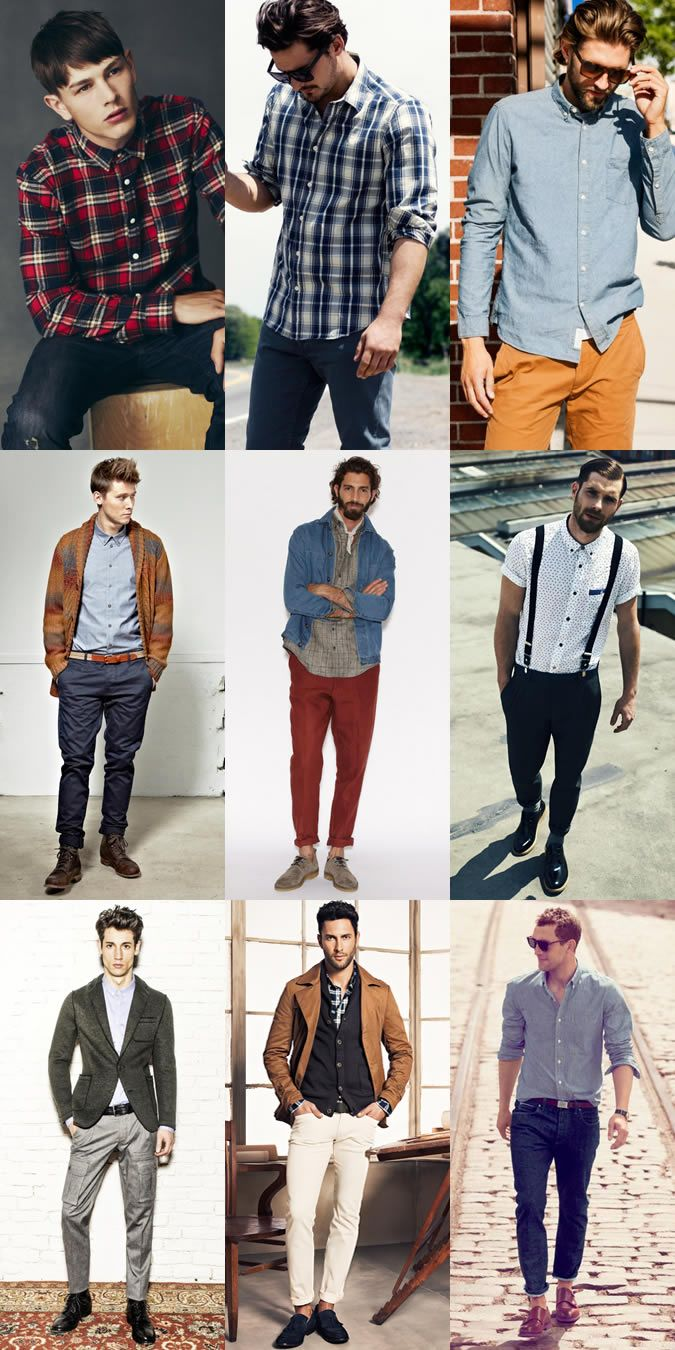Yes, Guys, you CAN wear more than tees! Men's Casual Shirt Lookbook