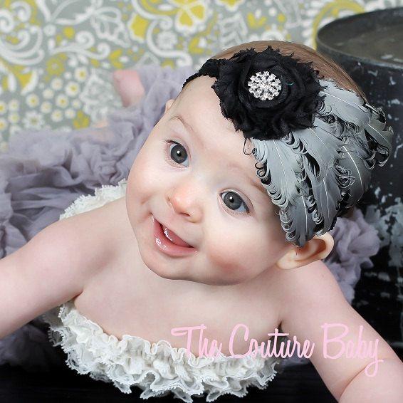 AdorableKids Flower, Headbands Flow, Elegant Headbands, Girls Kids, Head Band, Feathers Headbands, Headbands Hair, Headbands Ideas, Couture Baby
