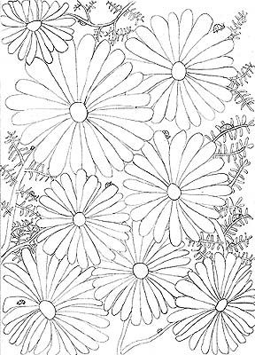 Small size sample from Thoughts & Sketches: Gates & Gardens by LK Hunsaker