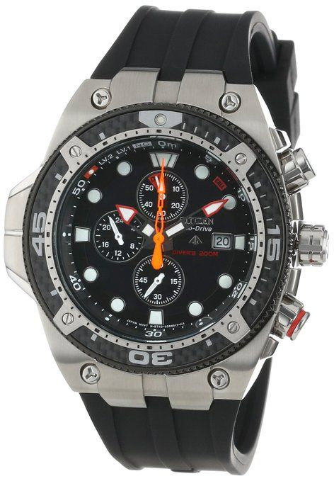 Citizen men 39 s bj2145 06e eco drive promaster carbon rubber - Best dive watches under 1000 ...
