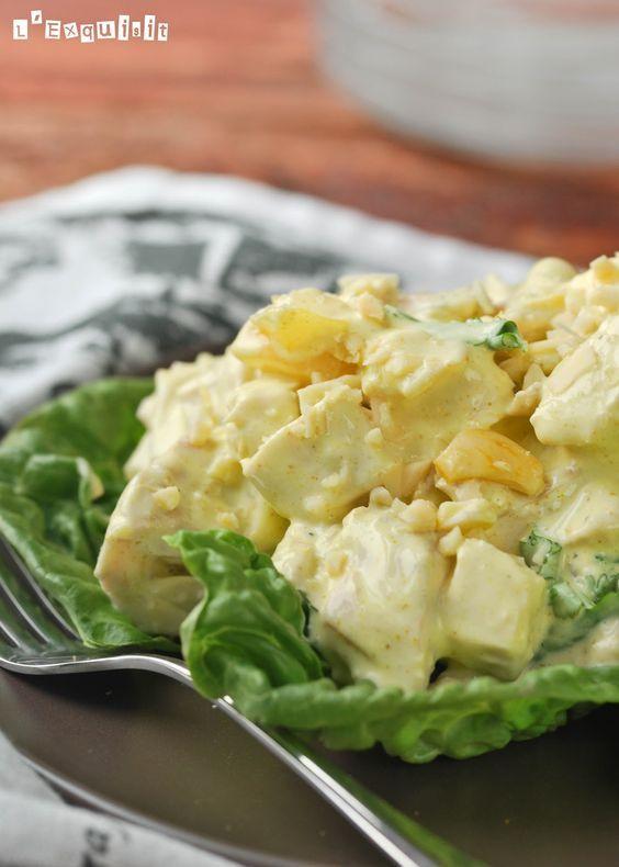 Una ensalada diferente…el pollo hervido le aporta suavidad a la receta, que…