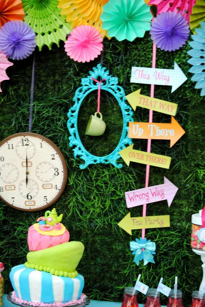 Alice in Wonderland, Mad Tea Party Birthday Party Ideas | Photo 2 of 36 | Catch My Party