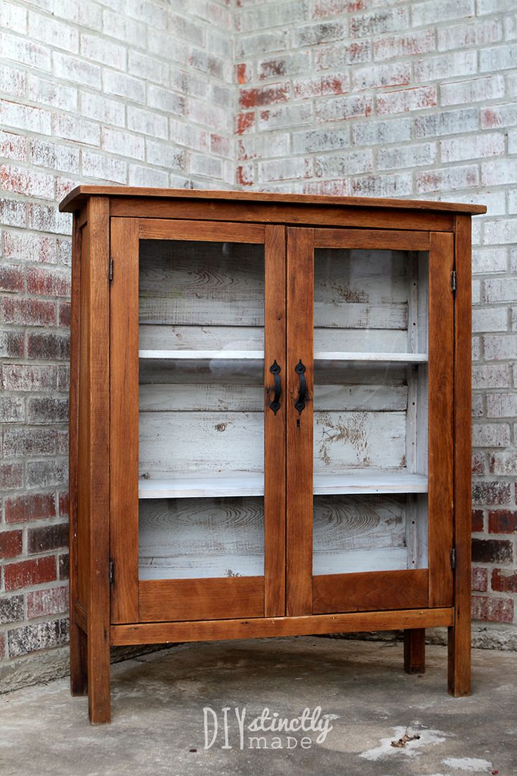 DIY Refinished Tung Oil Nursery Bookshelf - White wash interior - Rustic - Gender Neutral | DIYstinctlyMade.com