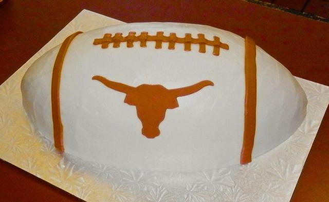 #Longhorn football #cake by Sweet Treets Bakery   6705 W Highway 290, Ste 601, Austin, Texas 78735   (512) 892-2233   https://www.facebook.com/SweetTreetsBakery
