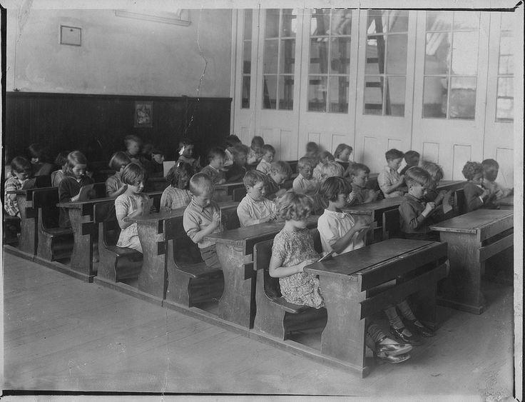 School Children doing Handicrafts, 1930s Victoria  | by Public Record Office Victoria