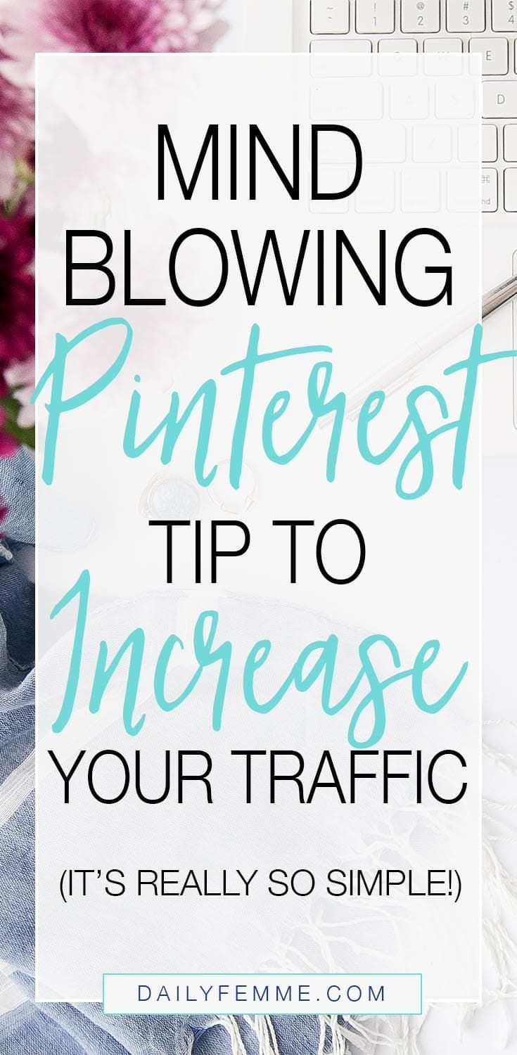 If you haven't delved into the power of Pinterest's ability to increase traffic and boost your business then this simple solution will be a big help! It's so incredibly simple you'll wonder why you hadn't thought of it long ago!! Pinterest marketing is so powerful for your blog and business and using this tip will help increase your traffic quickly.
