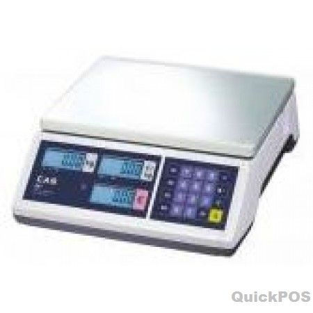 CAS ER JUNIOR 15KG - Price Computing Scale The CAS ER Junior 15kg Price Computing Scale provides exceptional value. With great features such as a large platter with metal surface easy to read backlit LCD display and it s able to operate stand alone on batteries-POS equipment and POS hardware