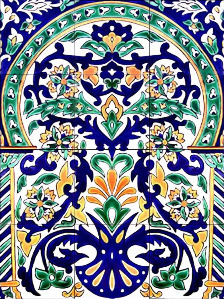 Moroccan Art Tile Mural Kitchen Back Splash Ceramic Mediterranean Turkish Design