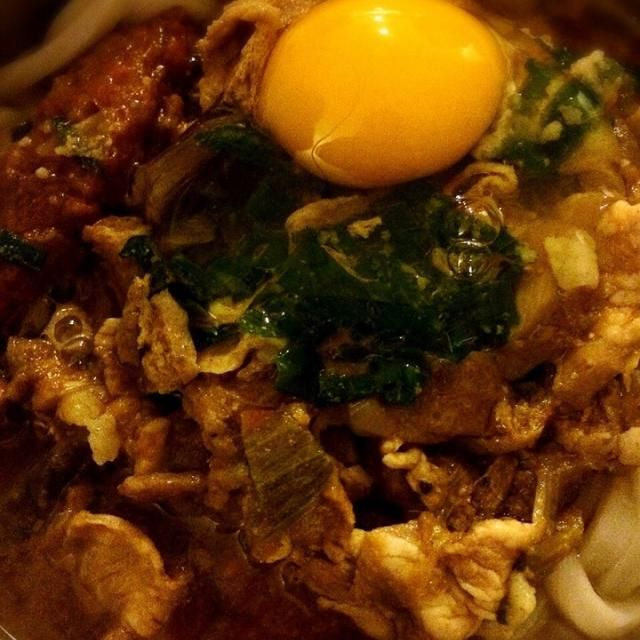 豚汁残りで - 13件のもぐもぐ - 味噌煮込みうどん by eses886