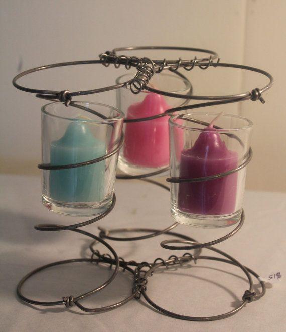 Bed Spring Candle Holder Trio Wedding decoration by 1LeftofCenter