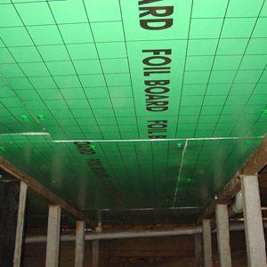 Foilboard's retrofit underfloor insulation's lightweight but rigid design ensures it is easily applied beneath the floor of existing homes.