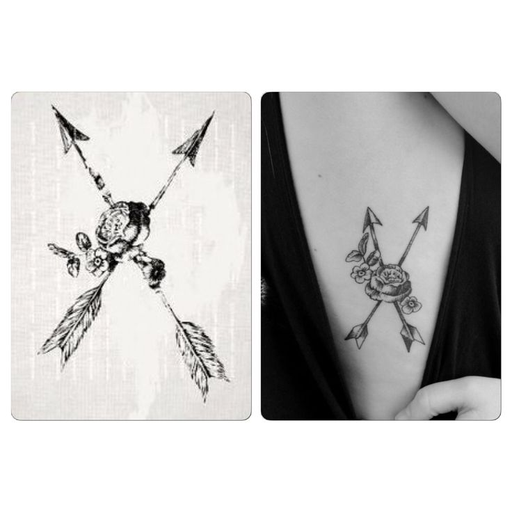25 beautiful crossed arrow tattoos ideas on pinterest for Crossed arrow tattoo