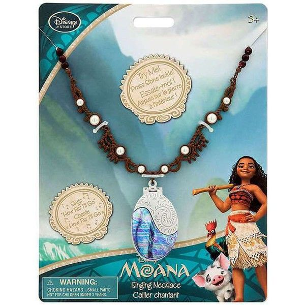 Disney Moana Singing Exclusive Necklace (£24) ❤ liked on Polyvore featuring jewelry, necklaces, bead jewellery, disney jewellery, beading necklaces, disney jewelry and disney necklace