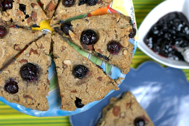 Blueberry almond scones | Get Naked In The Kitchen Cookbook | Pintere ...