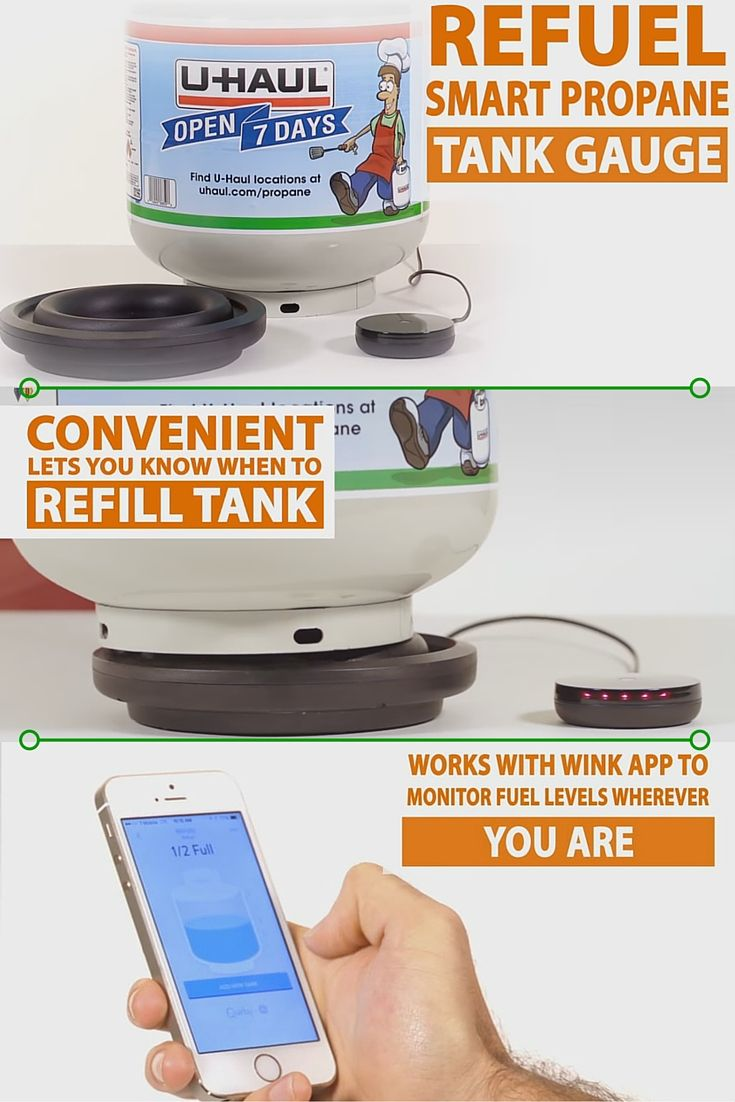 Nothing puts the kibosh on a cookout faster than an empty propane tank. With Refuel, you'll never get caught off guard by a BBQ bummer again. This super smart propane tank gauge connects to the Wink app on your mobile device so no matter where you are, you'll always know when it's time to refuel. | Propane and Grilling