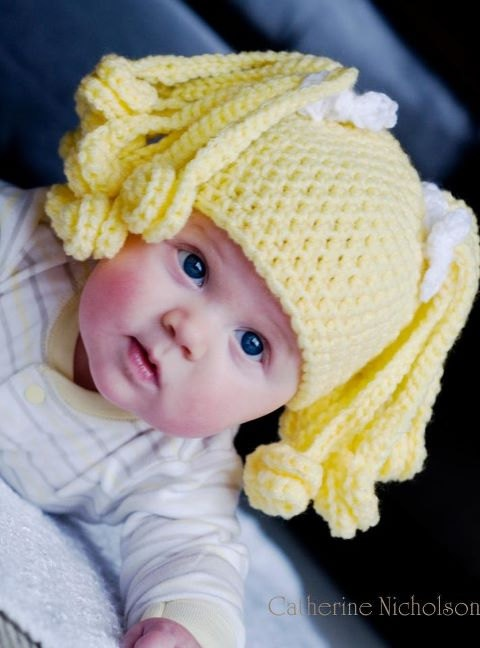 Crochet Pattern PDF Silly Hairstyle hat for newborn to by Tanger00, $5.00