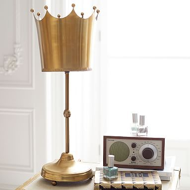 The emily meritt crown lamp with cfl