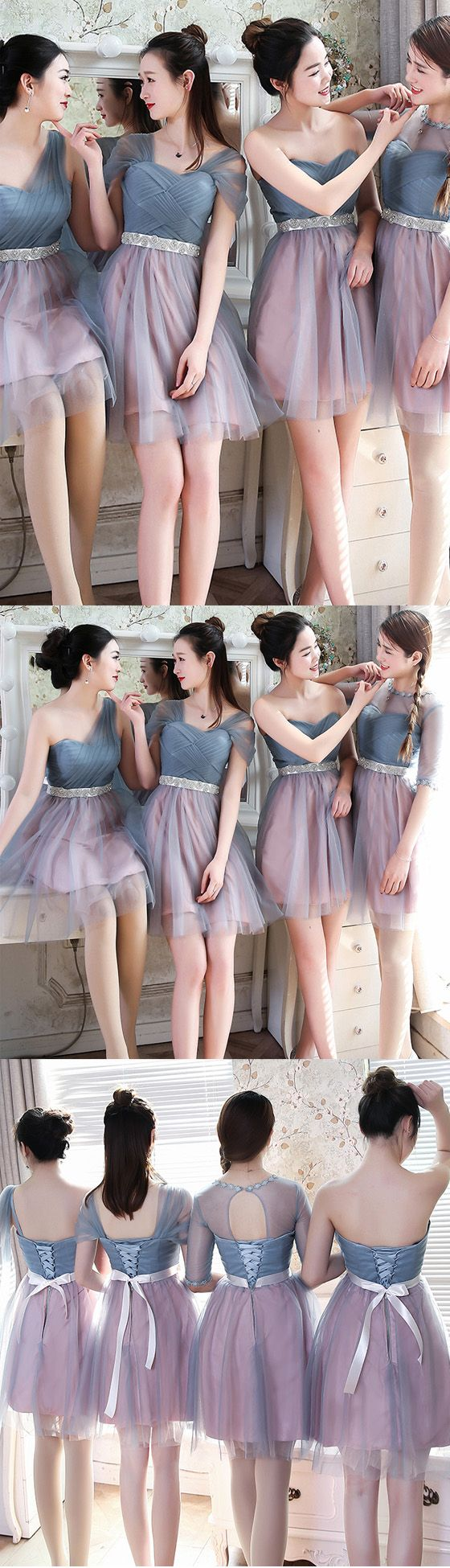 Short bridesmaid dress, mismatched bridesmaid dress, charming bridesmaid dresses, lovely bridesmaid dress, wedding party dresses, PD15489 #bridesmaid #bridesmaidsdress #wedding #weddingpartydress