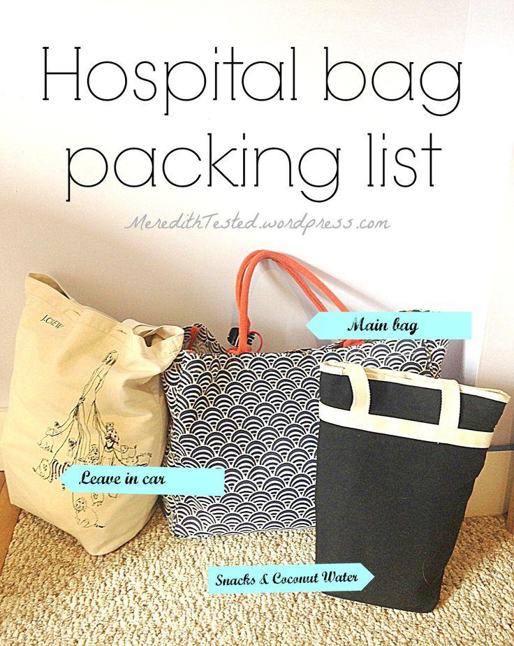 Natural Birth Hospital Bag Packing List