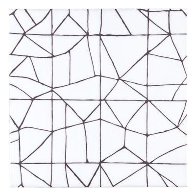 """Kelly Wearstler for Ann Saks   Maven Breakwater 8"""" x 8"""" field tile in Snow with…"""