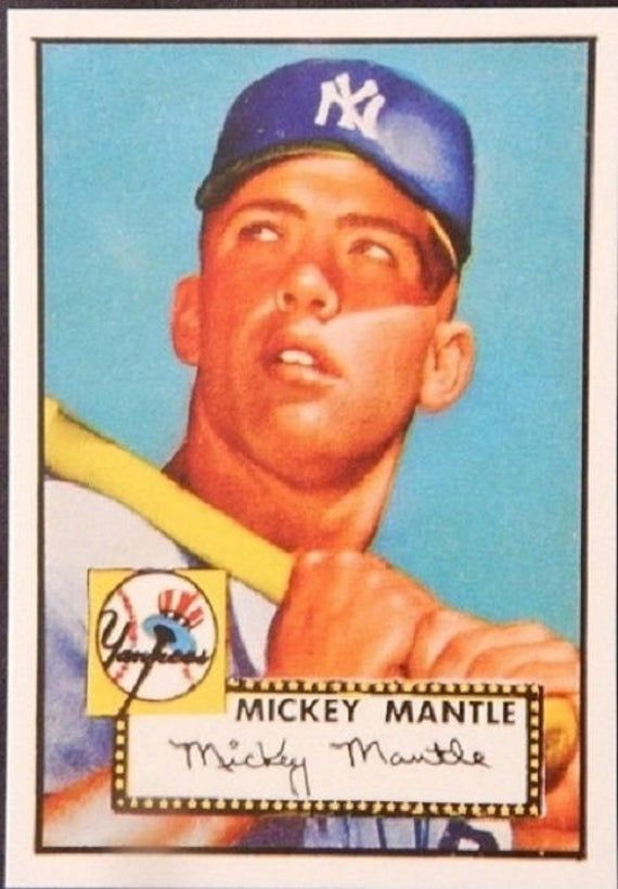 Mickey Mantle 1952 Topps 311 Baseball Card Rookie Card Mint Wow Mickey Mantle Baseball Cards Yankees Baseball