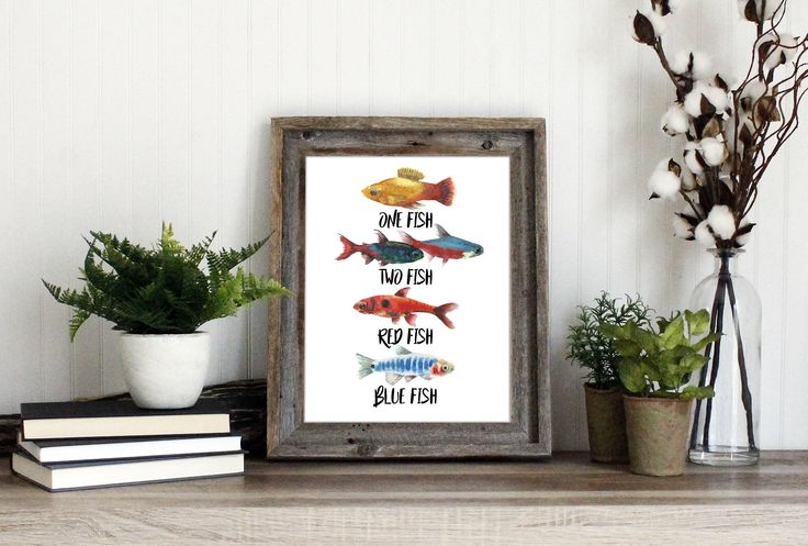 One Fish Two Fish Red Fish Blue Fish Watercolor Art | Dr. Seuss Printable Quote Print | Fishing Nursery Decor | Fish Party Instant Download by TheHardyShop on Etsy https://www.etsy.com/listing/539814415/one-fish-two-fish-red-fish-blue-fish