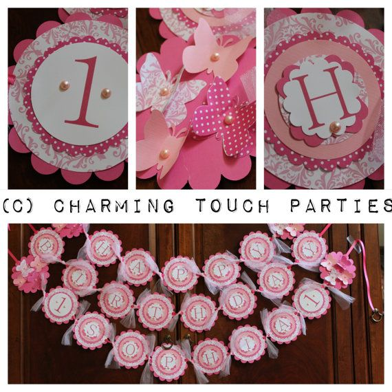 Custom deluxe Shades of Pink tulle by CharmingTouchParties on Etsy, $42.00