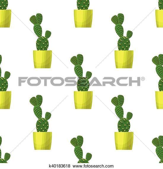 Clip Art - opuntia, cactus, -, floreale, seamless, modello k40183618 - Cerca Clipart, Poster illustrazioni, Disegni e Immagini grafiche vettoriali EPS - k40183618.eps