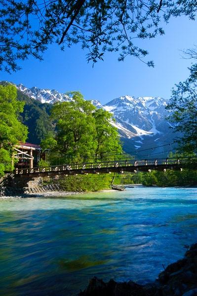 Bridge in Kamikouchi, Nagano, Japan