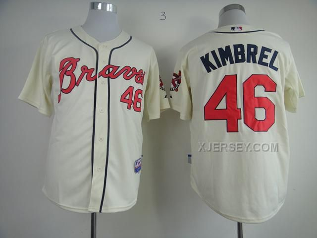 http://www.xjersey.com/braves-46-kimbrel-cream-jerseys.html BRAVES 46 KIMBREL CREAM JERSEYS Only 32.17€ , Free Shipping!