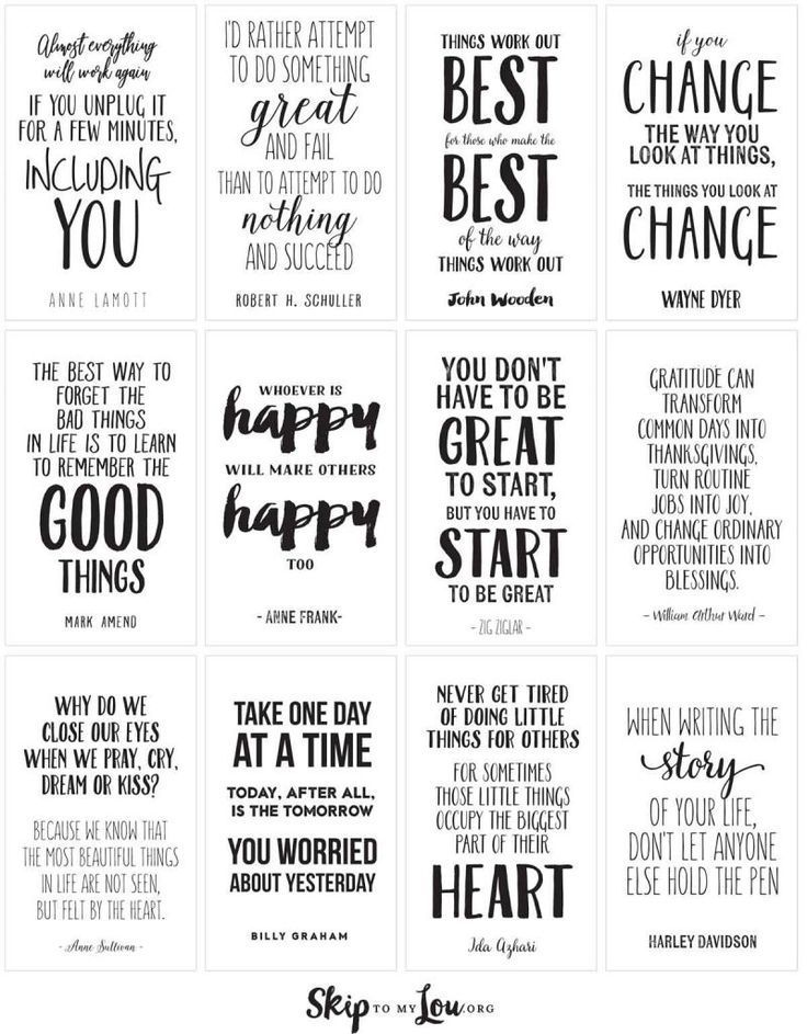 Printable life quotes. Need inspiration or a little pick