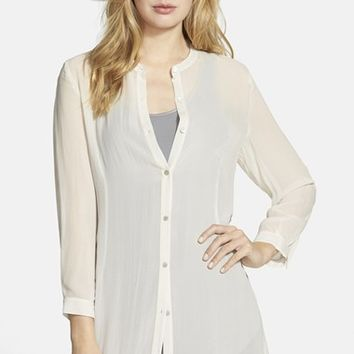 womens v neck chinese collar shirt - Google Search